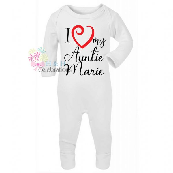 I Heart My... Personalised Baby Romper